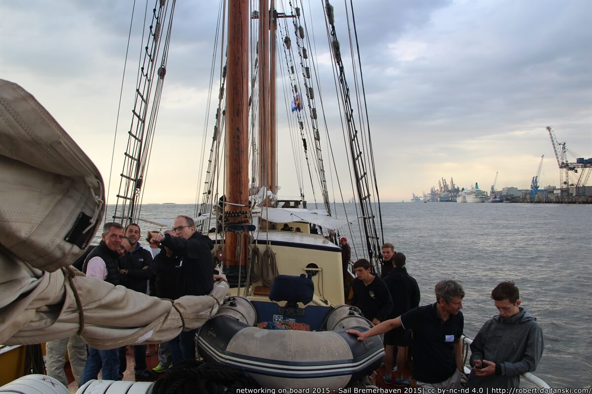 networking on board 2015 - Sail Bremerhaven